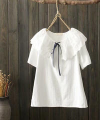 ラウンドネック||Tシャツ||ホワイト