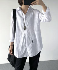 刺しゅう   長袖シャツ