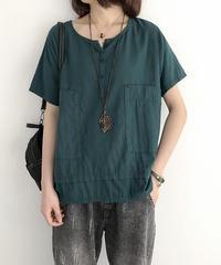 Vネック||半袖||Tシャツ
