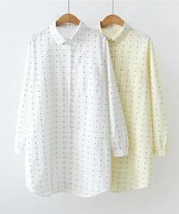 チェック   長袖シャツ(2色)
