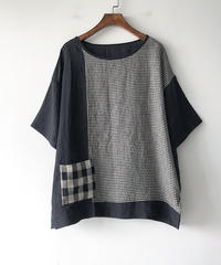 綿麻||ゆったり||Tシャツ