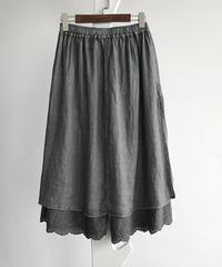 リネン  はゴムで   スカート