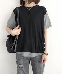 綿麻||半袖||Tシャツ