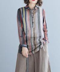 ファッション*ストライプシャツ