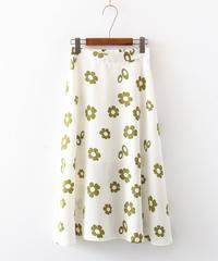 花||シンプル||スカート