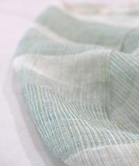 ストール 極細麻ジャカード ずり出し 白×緑 2399WGr