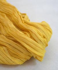 タッサーシルク、強撚シルクの楊柳  マリーゴールド