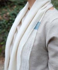 マフラー ピュアパシミナ つづら織り color 白 4209W
