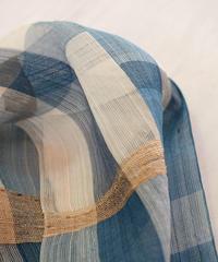 ストール つづら織り 藍 × 白 2610BW