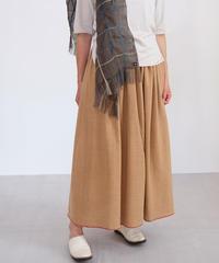 茶綿カディ スカート thinギャザー B6925
