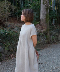 kotiワンピース 麻シルク グレー 6974G