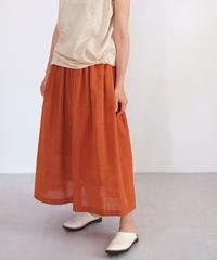 マンガルギリ スカート thinギャザー オレンジ杢 M6925Or / ダークブルー M6925DB