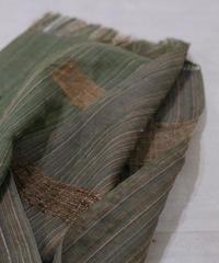 ストール つづら織り グリーン&パープル 2610Gr