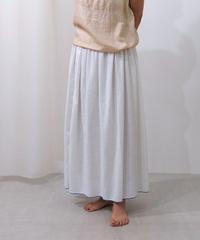 薄地カディのホームウェア スカート thinギャザー 白 KS6925W