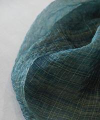 ストール ランダム格子ムガ 青緑 1261DGr