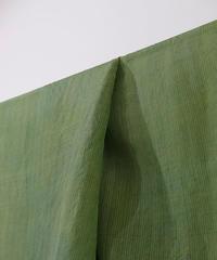 西表島で染めたシルクオルガンザ アトランダム 生地 緑