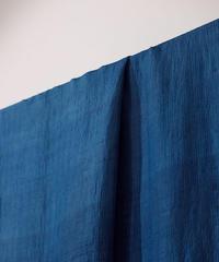 西表島で染めたシルクオルガンザ アトランダム 生地 藍