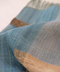 ストール つづら織り ブルー & グレー 2610GP