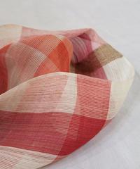 ストール  つづら織り  赤 × 白
