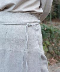 台形腰巻き ヒマラヤウール 白グレー 5500WG