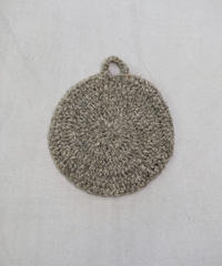 円形敷布 食器洗い シルクウール チャコール 8597C / グレー 8597G