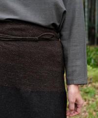 台形腰巻き ヒマラヤウール 茶黒 5500C