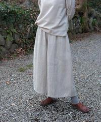 kotiパンツ 麻シルク 2トーン グレー&白 6870lGt