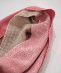 ストール  ピュアパシミナ  ミニ  つづら織り  ピンクレッド