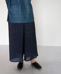 パンツ  プレーン  シルクオルガンザ  藍