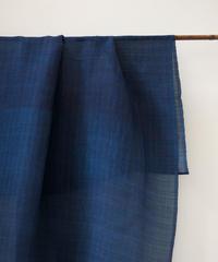 シルクオルガンザ  藍の布  藍