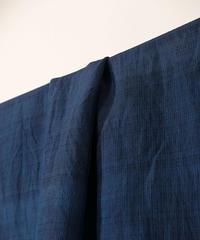 西表島で染めたシルクオルガンザ アトランダム 生地 濃藍