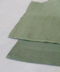 Makiの麻モックレノ手拭い グリーン濃淡2色 30 × 80cm
