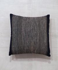 クッション 小布綴り 紺 40cm角 中綿付き 8805DB