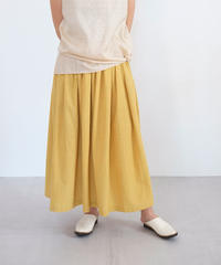 カディ スカート thinギャザー イエロー K6925Y / スカイブルー K6925SB