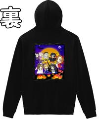 【メイキャス!ハロウィンナイト②】バックプリント軽量プルパーカー|00216-MLH|PrintStar