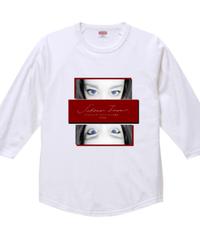 【シェーン・レーヴェ/七分袖Tシャツ】eye①!ラグラン七分丈Tシャツ|00138-RBB|PrintStar
