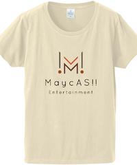 【メイキャス!ロゴ】ファインジャージーTシャツ(レディース)ナチュラル