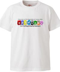 【メイキャス!オールスターキャラ モノクロ】ハイクオリティーTシャツ|5001-01