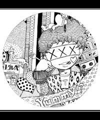 【MaycAS!!Pちゃんコースター①】2枚組・白雲石コースター 丸