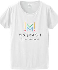 【メイキャス!ロゴ】ファインジャージーTシャツ(レディース)白