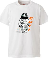 【メイキャスキャラ ちぃモノクロ】ハイクオリティーTシャツ|5001-01