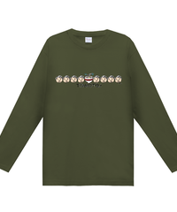 MAYA画伯【じぃじトンコツ②】ヘビーウェイト長袖Tシャツ|00102-CVL|Printst