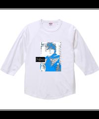 Pちゃん!T②【シェーン・レーヴェ/七分袖Tシャツ】ラグラン七分丈Tシャツ|00138-RBB|PrintStar