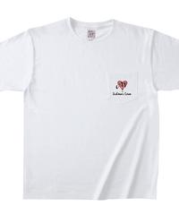 【シェーン・レーヴェ/前ポケットTシャツ】ハート+お好きなアルファベット1文字!  マックスウェイトポケットTシャツ|OE1117|TRUSS