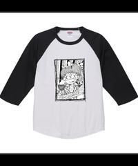 Pちゃん!T①【シェーン・レーヴェ/七分袖Tシャツ】ラグラン七分丈Tシャツ|00138-RBB|PrintStar