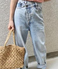 Layered Design Wash Jeans