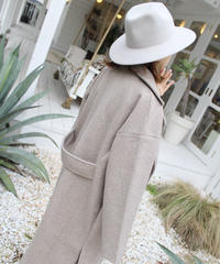 [LAST1点] Fack Wool Double Long Coat