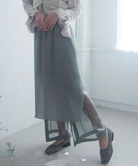 see-through layered pants (green) <21sp-pt-01-gr>