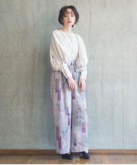 seasonal letter soft gather pants <20as-pt-01>