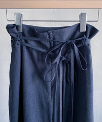 rusty blue  double ribbon wide pants ( navy ) <20ss-pt-01-na>